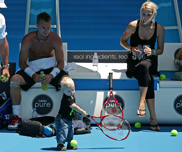 Not long after, Cruz Hewitt joined the clan! *(Image: Getty)*