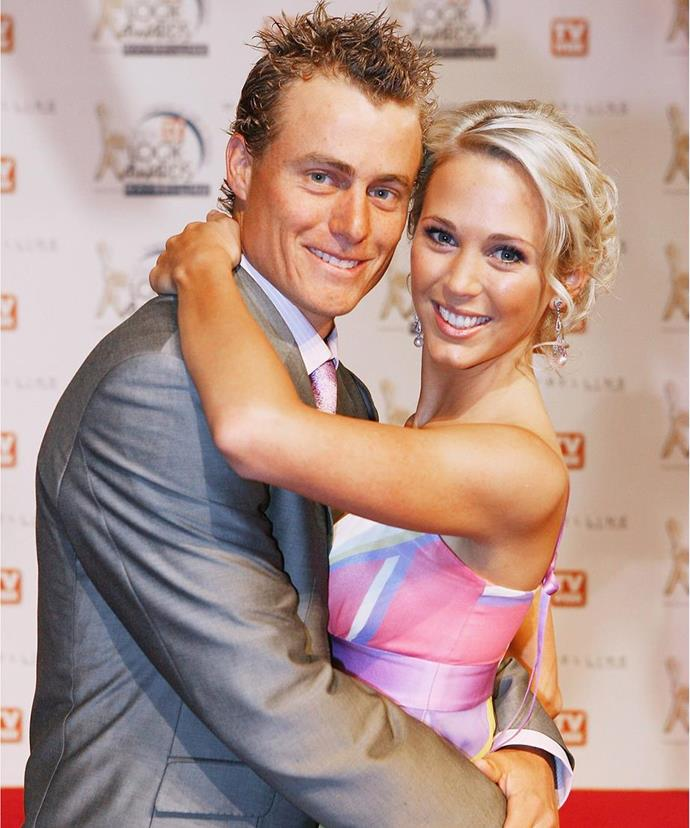 It doesn't get more iconic that this! Who could forget when Bec and Lleyton dazzled on the red carpet at the 2006 TV WEEK Logie Awards. Teenage girls around the country lusted after Bec's pastel rainbow frock, which was bang on trend at the time.