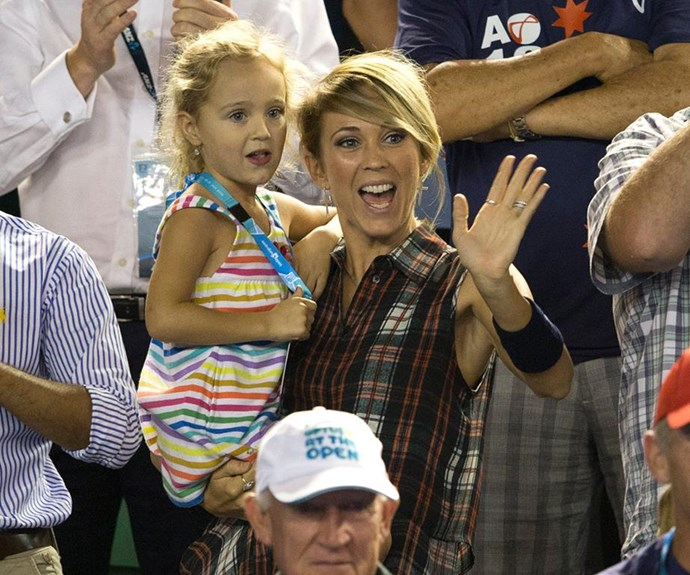 Ever supportive Bec was always a constant in the crowd and there to cheer on her husband during his tennis career. *(Image: Getty)*