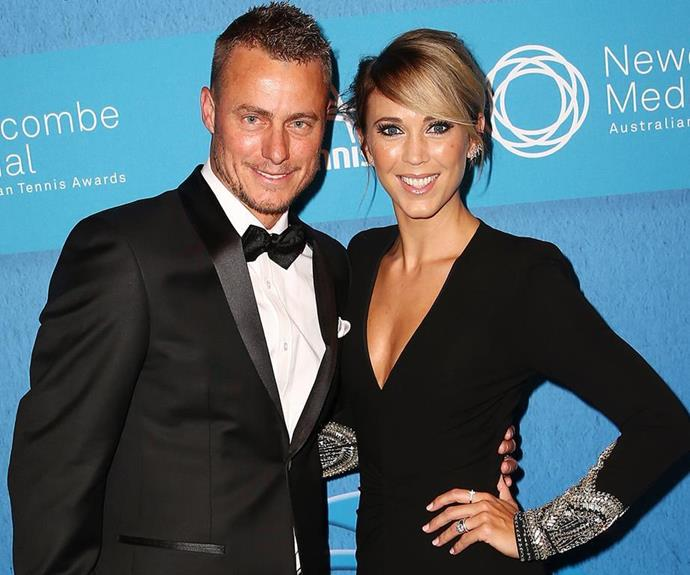 """I find it really hard to unwind. The only time I really unwind or relax is when Lleyton is home. We enjoy sitting and watching TV together,"" Bec told *The Weekly* in 2013 of their family downtime. *(Image: Getty)*"
