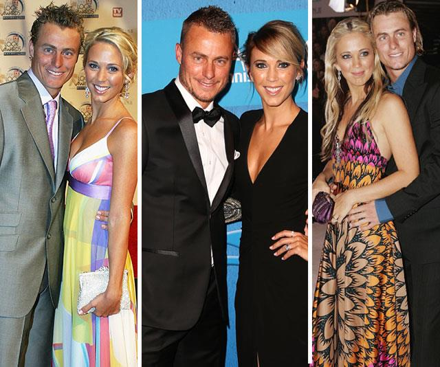 Here's to the ultimate life doubles partners, Lleyton and Bec Hewitt. *(All images: Getty)*