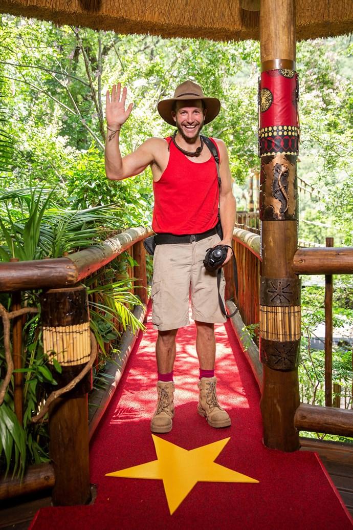 Luke says goodbye to the jungle (Image: Network 10).