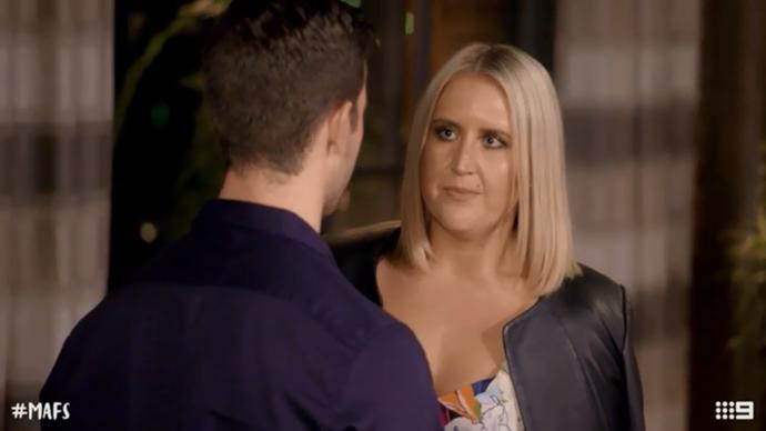 Lauren confronts Matthew about his comments (Image: Nine Network).