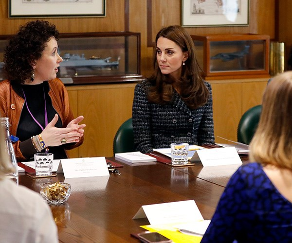 Duchess Catherine, who has long been an advocate for mental health support, particularly among youth, spoke at the Mental Health in Education conference and attended a roundtable discussion. *(Image: Getty)*