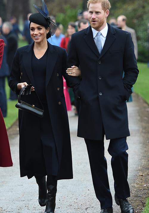 Meghan's choice in wearing a Victoria Beckham dress on Christmas day came as a surprise. *(Image: Getty)*