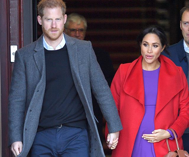 Duchess Meghan is in labour with her first child to Prince Harry. *(Image: Getty)*