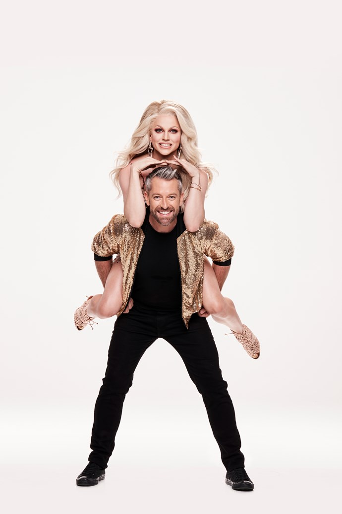 Courtney and Joshua are the first all-male team to compete on Dancing With The Stars (Image: Network 10).