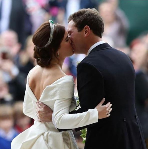 The royal lovebirds were wed in October last year. *(Image: Instagram @princesseugenie)*