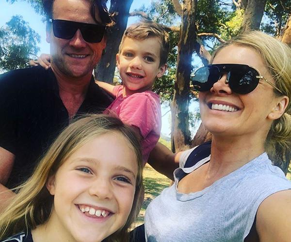 Nat and her husband want to teach their kids healthy habits too. *(Image: Instagram @natbassingthwaighte)*