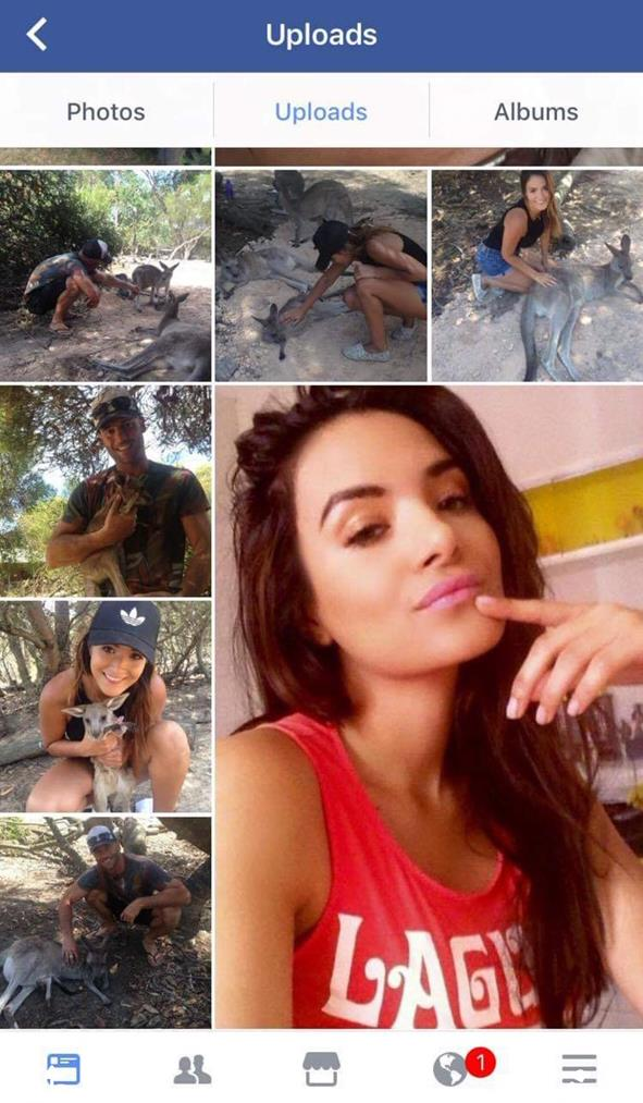 Mike's Facebook page features his ex-girlfriend. *(Source: Supplied)*