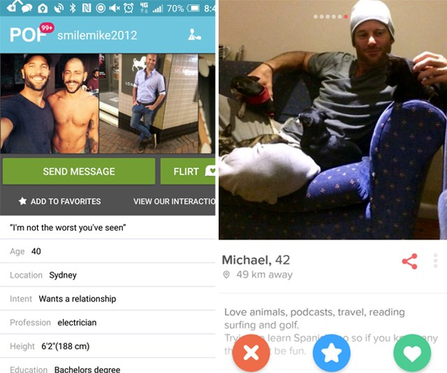 Mike's Plenty of Fish profile. *(Source: Supplied)*