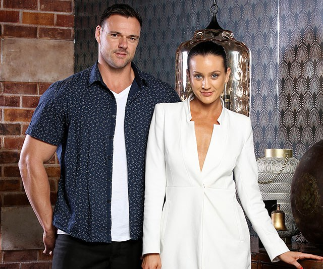Even Ines' TV husband Bronson had suspicions she was an actress. *(Image: Channel Nine)*
