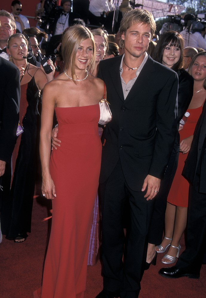 Brad and Jen at the 52nd Annual Primetime Emmy Awards on 2000. *(Source: Getty)*