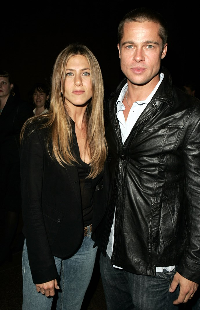 Brad and Jen in 2004. *(Source: Getty)*