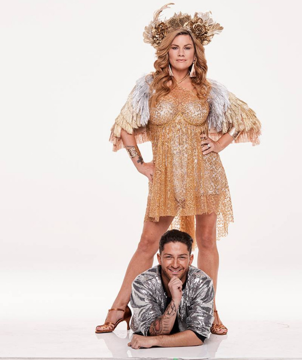 Constance Hall and dance partner, Gustavo Viglio are getting ready to shake it. *(Image: Network 10)*