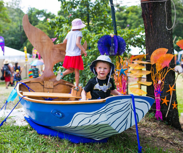 """***Woodford Folk Festival - Woodford, QLD Dec 27th through to January 1st:***  Since the festival's humble beginnings, Woodford have held true to the belief in presenting a programme for children that they can jump into, roll around in, drink, breathe in and be covered in! Workshops, performances, arts and crafts, and most importantly play are there for the taking, whether boldly or shyly, loudly or quietly. With great music, markets and food, Woodford is a colourful festival that should be on every parent's bucket list. *Image: [Woodford Folk](https://woodfordfolkfestival.com