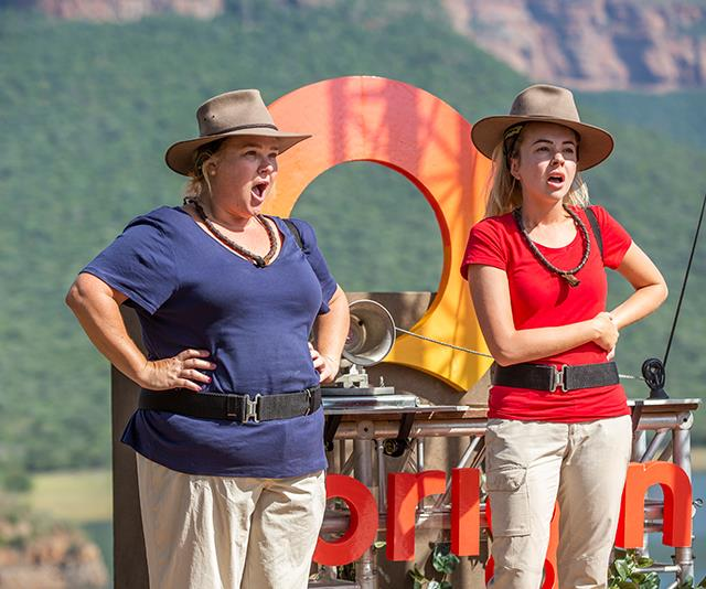 Always a team, Angie and Yvie battled the jungle elements together. *(Image: Network Ten)*
