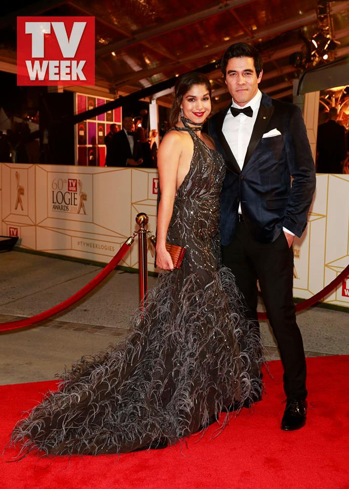 *Home and Away* stars Sarah Roberts and James Stewart at the 2018 TV WEEK Logie Awards.