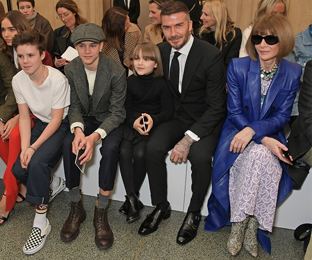 And it was a family affair, with Harper and Anna joined by David and the Beckham boys. *(Image: Getty)*