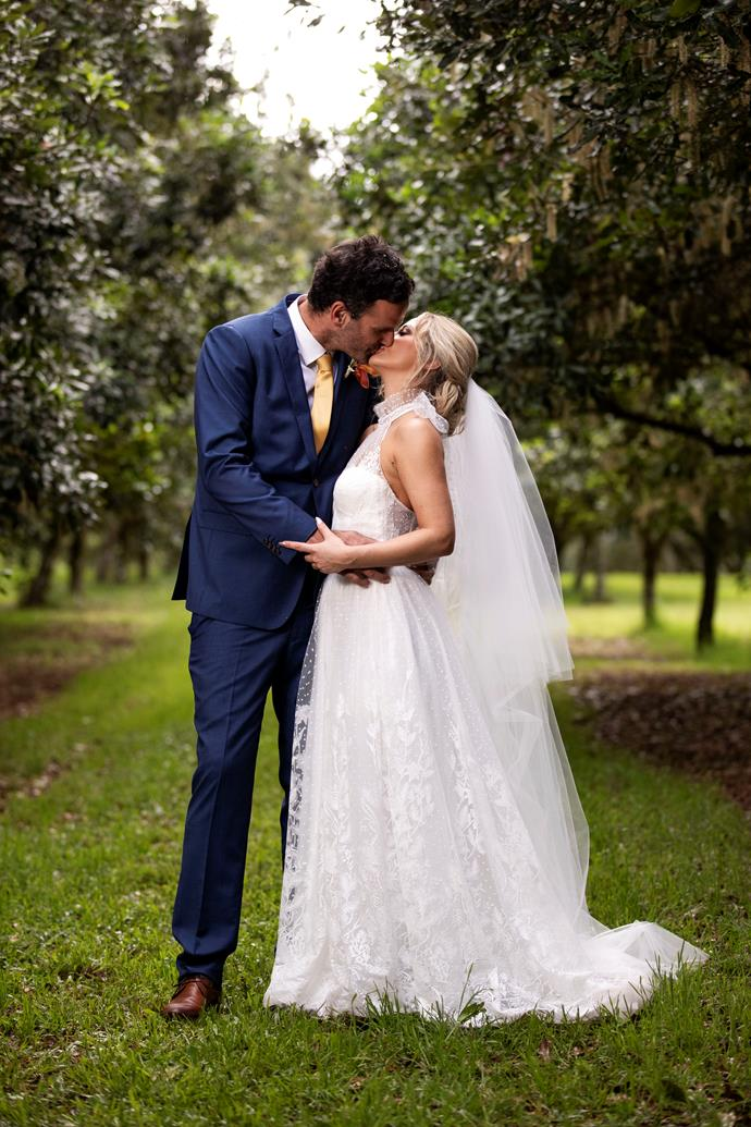 Mick and Jessika on their wedding day (Image: Nine Network)