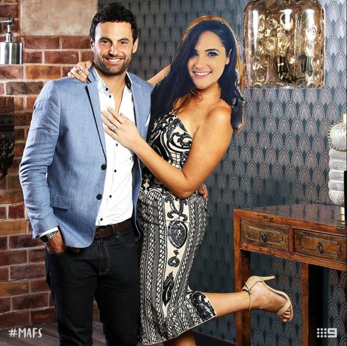 Cam and Anita sitting in a tree... *(Source: Channel 9 / bad photoshopping by Now to Love)*