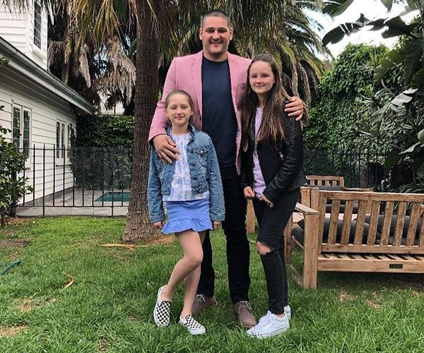 Brendan, Leni and Lulu pose for a photo before seeing a production of *School Of Rock*. *(Image: Instagram @brendanfevola25)*