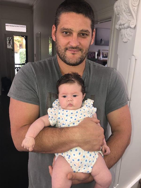 Seeing double: Brendan and his youngest daughter Tobi are two peas in a pod. *(Image: Instagram @brendanfevola25)*