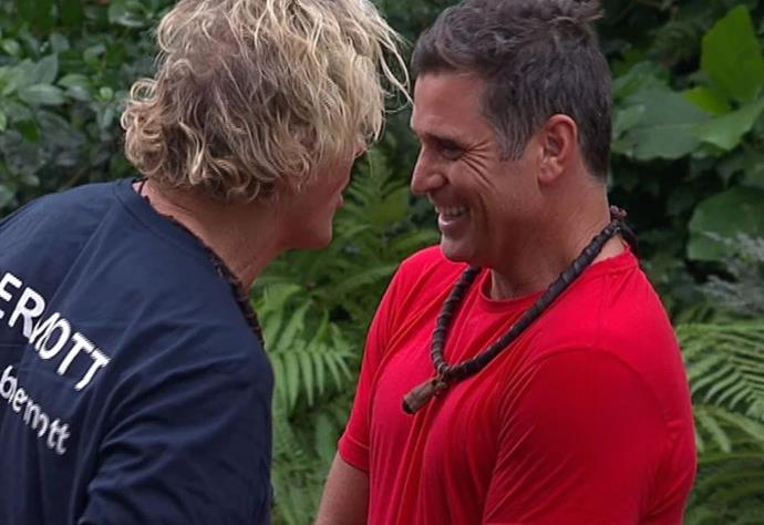Shane and Dermott shared a brotherly bond in the jungle. *(Image: Network Ten)*