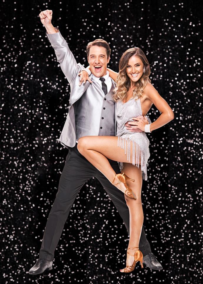 Samuel with his dance partner Jorja Freeman.
