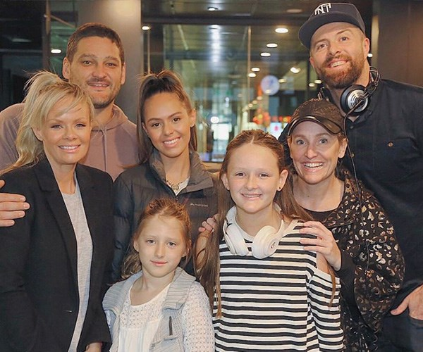 Before Tobi was born, the then-family of five did a gender reveal balloon pop at the FOX FM studios with Fifi and Byron.