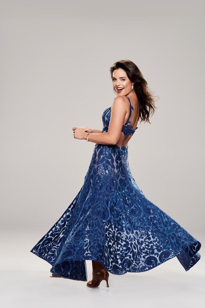 """**OLYMPIA VALANCE, ACTOR, 26** <br><br> Competing on *DWTS* is becoming somewhat of a tradition for the Valance family! Olympia is set to follow in her half-sister Holly's footsteps after she competed on the UK version in 2011. The former Neighbours star says she's studied her big sister's routines on YouTube. <br><br> """"She has a lot more rhythm than I do,"""" the 26 year old says. """"I'm the girl with the jokes and smiles, but zero rhythm."""" <br><br> However, what Olympia does have is commitment. She says she's used to a gruelling work schedule.  <br><br> """"I knew what I was getting myself into,"""" she says."""