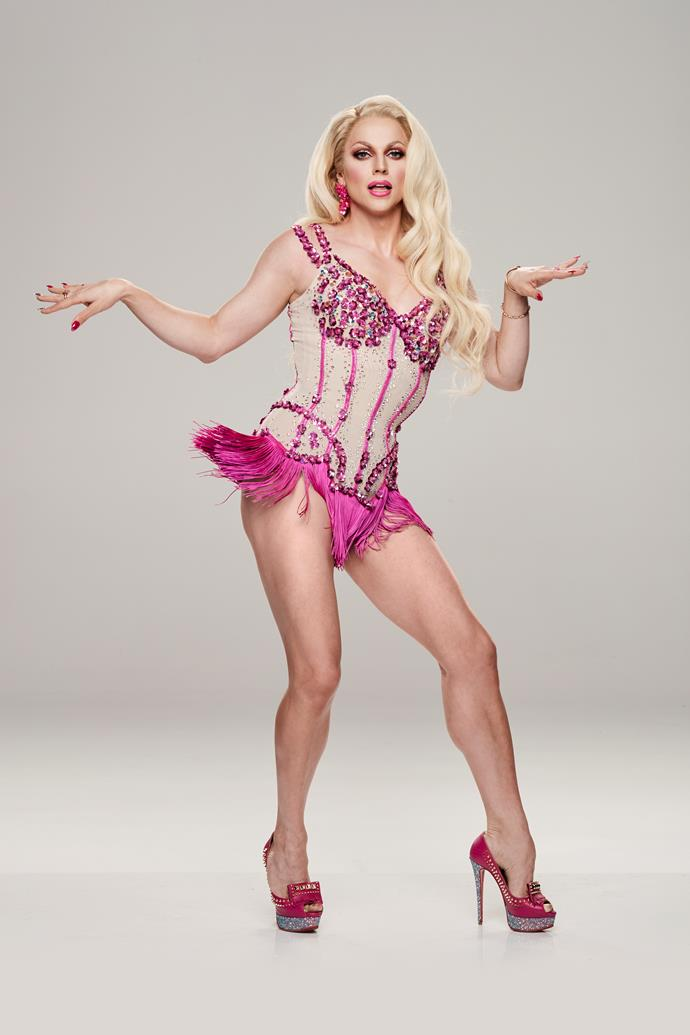 "**COURTNEY ACT, TRIPLE THREAT, 36** <br><br> If Courtney  wants to win *DWTS,* she's going to have to stay focused. However, the drag artist and singer – real name Shane Jenek – is already finding herself getting distracted by her co-star Jett Kenny! <br><br> ""I want to see everyone's moves,"" she tells TV WEEK. ""I was particularly beguiled by the gentleman who looks like a Hemsworth [Jett]."" <br><br> The former *RuPaul's Drag Race* contestant, 36, will also be the first drag artist to compete in the Australian competition. <br><br> ""The female dancers are putting on a costume and the men are putting on a costume, but my costume just happens to be a woman's,"" Courtney says."