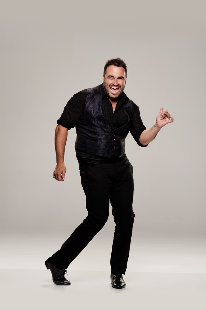 """**MIGUEL MAESTRE, TV PERSONALITY AND CHEF, 39** <br><br> *The Living Room* star might be unrecognisable by the time he's finished with *DWTS*. Father-of-two Miguel says during rehearsals for the show he lost a staggering 6.5kg — and counting! <br><br> """"It's amazing how in a couple of weeks I've found myself lighter on my feet,"""" Miguel, 39, tells TV WEEK. """"I've lost 6.5kg already!"""" <br><br> Weighing in at 115kg at the start of the pre-show training, Miguel admits his biggest worry coming into the show was always his fitness. <br><br> """"Fitness will be my biggest enemy, as I'm flat-footed and heavy,"""" he explains. """"I think people who are very fit have an advantage. Michelle Bridges is so fit — she's a weapon."""""""