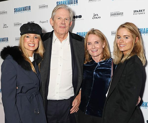 Isabella (far left) and Cressida (far right) with their mother Mary-Gaye Curzon and Isabella's father John Anstruther-Gough-Calthorpe. *(Image: Getty Images)*