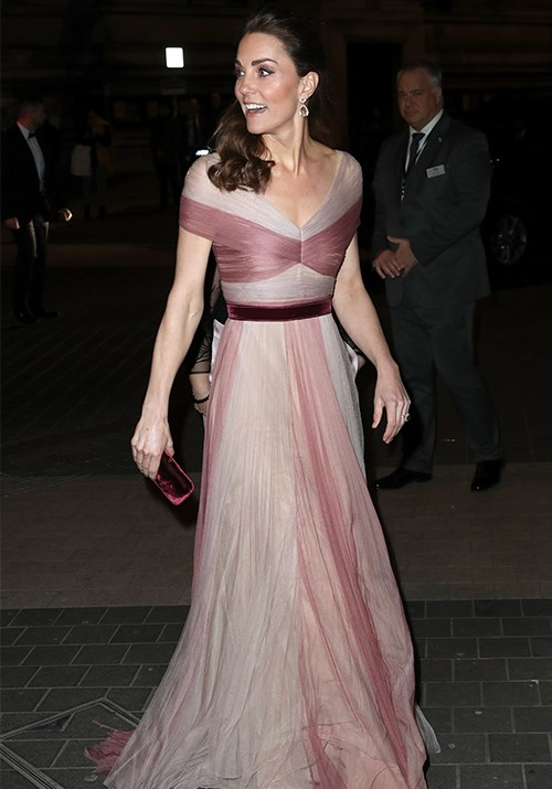 Pretty in pink, Duchess Catherine attended the annual 100 Women in Finance event looking every bit the Princess she is in a Gucci gown. Keep the gowns coming, Kate! *(Image: Getty)*