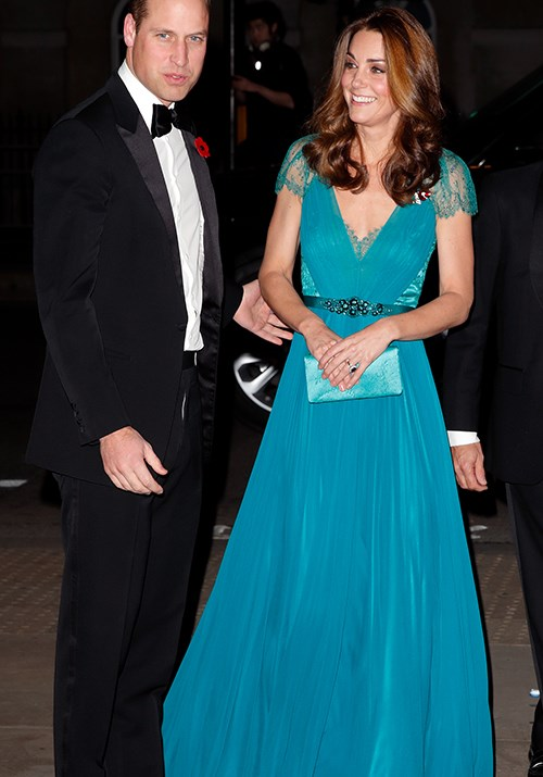 "We all did a double take when we first clapped eyes on Kate as she attended the 2018 Tusk Awards in a floor length blue Jenny Packham gown - the reason? We've [seen it on her before](https://www.nowtolove.com.au/royals/british-royal-family/kate-recycle-blue-dress-52330|target=""_blank"")! And it looked just as stunning on her the second time around. *(Image: Getty)*"