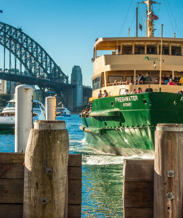 The ferry ride to Manly is cheap way to cruise the harbour. *(Image: Getty Images)*