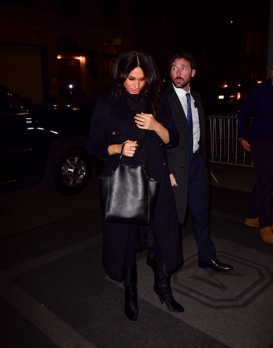 The pregnant Duchess stepped out in NYC on Tuesday evening for a glam night out. *(Image: Getty)*