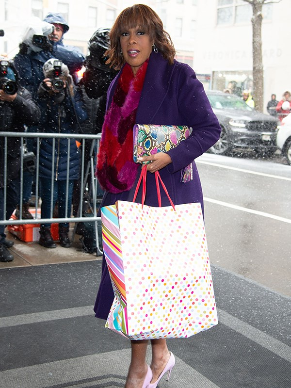 Gayle King's bright look brought some colour to the dreary day. *(Image: Getty Images)*