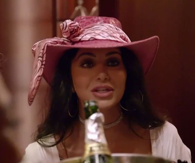 """Hats off to Martha! After she donned this [pink monstrosity to the girls' night,](https://www.nowtolove.com.au/reality-tv/married-at-first-sight/married-at-first-sight-martha-hat-54230