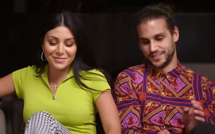 Our eyes! Martha's lime green tee and Michael's paisley number is giving us a seizure. *(Image: Channel Nine)*