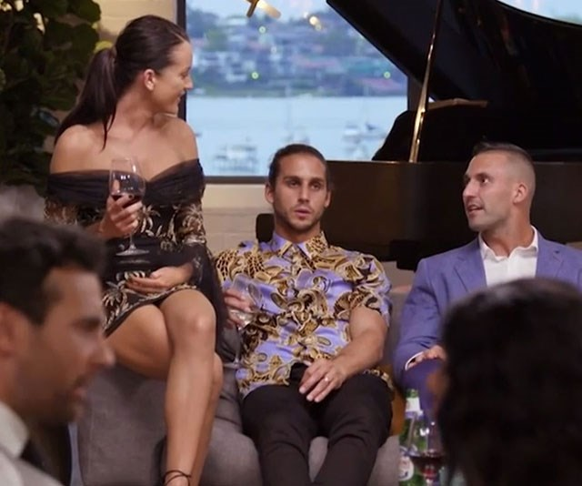 Another dinner party, another snazzy party shirt for Michael. *(Image: Channel Nine)*