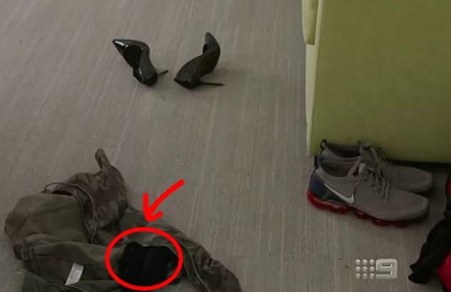 That seems like black underwear to us! *(Source: Channel 9)*