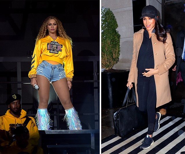 Beyonce and Meghan actually have some stuff in common. *(Images: Getty Images)*