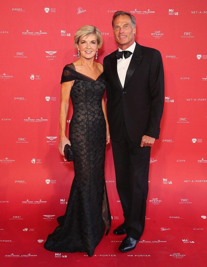 Ms Bishop and her boyfriend David Panton. *(Image: Getty)*