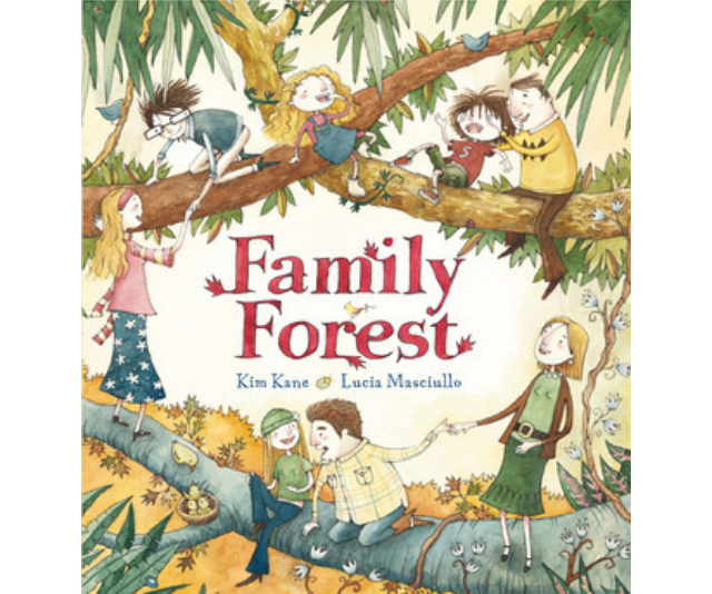 **Family forest, Kim Kane and Lucy Masciullo:** This book showcases a family with half, whole and step siblings as well as different parental relationships. Family Forest explains blended families and diverse family representation in a fun and engaging way rather than positioning it as an issue.