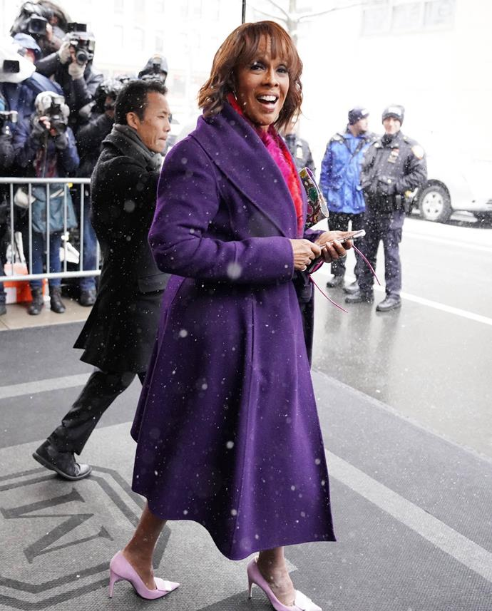 Gayle King leaving the baby shower. *(Image: Getty)*