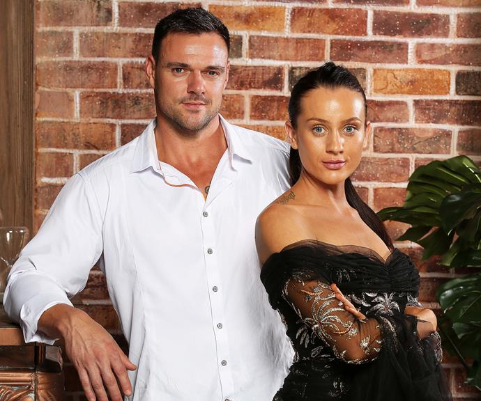 Ines and her former TV hubby, Bronson. *(Source: Channel 9)*