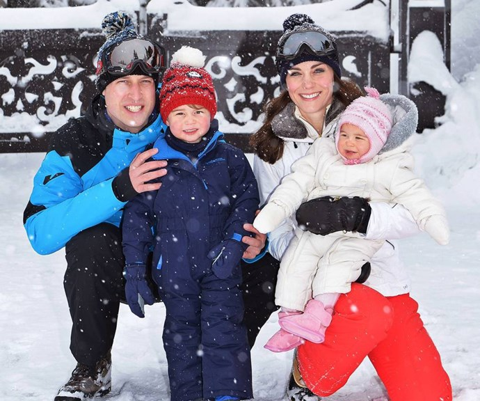 The Cambridges on holiday in 2016. *(Image: Getty)*