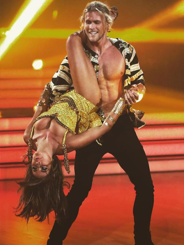 """What a fantastic looking couple you are!"" said judge Tristan after they danced the cha-cha. *(Image: Network Ten)*"